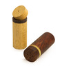 ExclusiveLane Brown 2-piece Cylindrical 45 ML Salt and Pepper Shaker Set