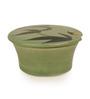 ExclusiveLane Handcrafted Studio Pottery Green 10 ML Salt Box with Lid