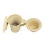 ExclusiveLane Handcrafted Studio Pottery White 280 ML Green Tea Filter Mug