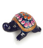 Exclusivelane Multicoloured Metallic Meenakari Tortoise Showpieces - Set of 2