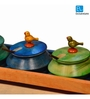 ExclusiveLane Multi-coloured Wood Parrot Jar - Set of 5