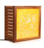 Exclusivelane Orange & White Teak Wood Table Lamp