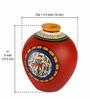 Exclusivelane Red Terracotta Hand Painted Warli Matki Vase