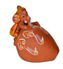 ExclusiveLane Brown Terracotta Hand Painted Baby Ganesha Idol - Set of 3