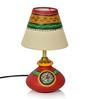 ExclusiveLane Multicolour Polyvinyl & Terracotta Lamp