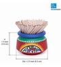 ExclusiveLane Terracotta Handpainted Ceramic Toothpick Holder - Set of 2