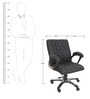 Executive Office Chair in Black Colour by KS