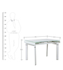 Extendable Dining Table in White Colour by Penache Furnishings