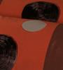 Eyda Brick Polyester 16 x 30 Inch Ribbon Spot Bolster Covers - Set of 2