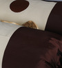 Eyda Ivory Polyester 16 x 30 Inch Ribbon Spot Bolster Covers - Set of 2