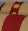 Eyda Red Polyester 16 x 30 Inch Damask Bolster Covers - Set of 2