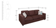 Fabio Three Seater Sofa in Chocolate Colour by Evok