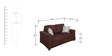 Fabio Two Seater Sofa in Chocolate Colour by Evok