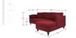 Farina Spacious LHS Sofa in Maroon Colour by Furny