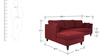 Farina Spacious RHS Sofa in Maroon Colour by Furny