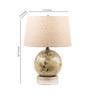 Fabuliv Globe Beige Cotton Table Lamp