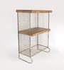 Fabuliv Metal 3 Tier Storage Organiser with Mango Wood Shelf