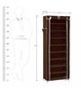 Pindia Fancy Portable Dark Brown Multi Utility Shoe Rack