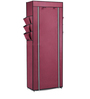 Pindia Fancy Portable Fabric Maroon 10-Layer Multi Utility Shoe Rack