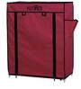 Fancy 4 Layer Portable Multipurpose Waterproof Fabric Shoe Rack in Maroon Colour by YUTIRITI