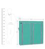 Fancy 6 Layer Double Aqua & Pink Border Portable Multi Utility Shoe Rack by Pindia