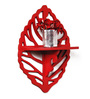 Fastbacks Eclectic Wall Shelf in Red by Bohemiana
