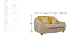 Felix  Fabric Two Seater Sofa  in Beige Colour by HomeTown