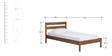 Felix Single Bed in Brown Polish by Asian Arts
