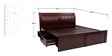 Fendi Queen Bed with storage in Brown colour by Looking Good Furniture