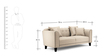 Ferris Three Seater sofa in Cream Colour by Furny