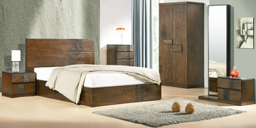 Felipa Queen Size Bed With Box Storage In Antique Grey Finish By CasaCraft