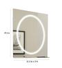 Ferrara Design Silver Glass Hollywood Glossy Italian Wall Mirror