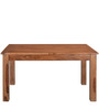 Festo Eight Seater Solid Wood Dining Set in Brown Colour by @Home