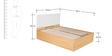 Fiesta King Bed with Hydraulic Storage in Matte Black Jakarta Teak Finish by Godrej Interio