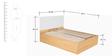 Fiesta Queen Bed with Hydraulic Storage in Matte Black Jakarta Teak Finish by Godrej Interio