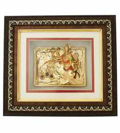 Finedor 24K Gold Leaf Frames Gold Plated Ambe Maa Frame With Led