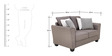 Florence Two Seater Sofa in Grey Colour by Furnitech