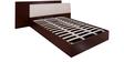 Florida King Bed with Hydraulic Storage in Walnut & Cream Colour by Evok