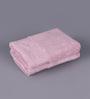 Floor & Furnishing Orange Cotton 16 x 24 Hand Towel - Set of 2