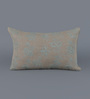 Floor and Furnishings Teal Cotton 20 x 12 Inch Amer Cushion Cover