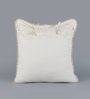 Floor and Furnishings White Cotton 24 x 24 Inch Pomegranate Cushion Covers - Set of 2