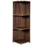 Flora Corner Display Unit in Acacia Dark Matt Finish by Debono