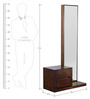 Emerico Dresser-Mirror Set in Dark Walnut Finish by CasaCraft