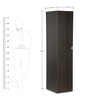Florid Single Door Wardrobe in Twilight Oak Finish by Godrej Interio