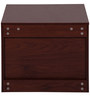 Florida Bedside Table in Walnut & Cream Colour by Evok