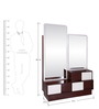 Florida Dressing Table in Walnut & Cream Colour by Evok