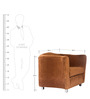 Flow One Seater Fabric Sofa in Brown Colour by Tube Style