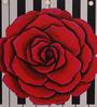 Fluke Design Company White Aluminium Rose and Piano Decoupage 9.1 x 6.3 x 2.8 Inch Keepsake Box