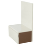 Flute Bedside Table in Camel Colour by Godrej Interio