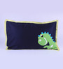 FLYFROG KIDS Blue Cotton Dinosaur 90 x 60 Inch Quilt Set (with Pillow and Cushion)